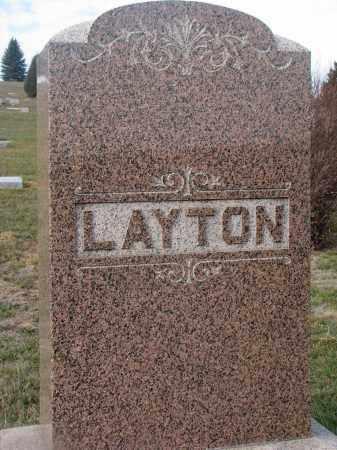 LAYTON, PLOT STONE - Stanton County, Nebraska | PLOT STONE LAYTON - Nebraska Gravestone Photos