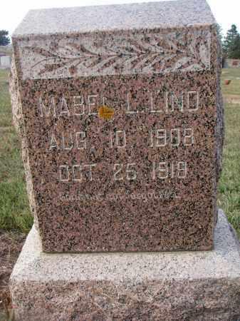 LIND, MABEL L. - Stanton County, Nebraska   MABEL L. LIND - Nebraska Gravestone Photos