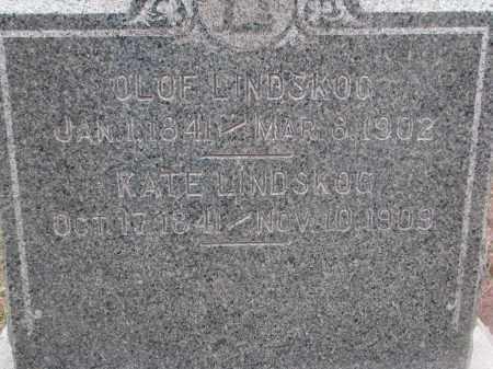 LINDSKOG, OLOF & KATE (CLOSEUP) - Stanton County, Nebraska | OLOF & KATE (CLOSEUP) LINDSKOG - Nebraska Gravestone Photos