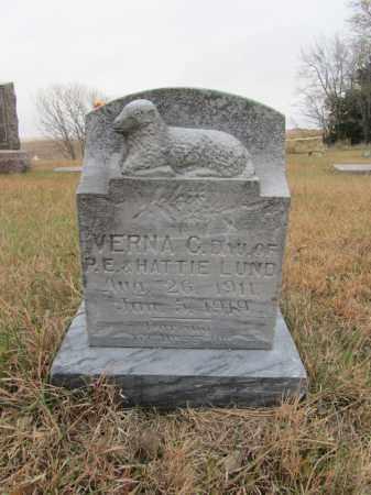 LUND, VERNA C - Stanton County, Nebraska | VERNA C LUND - Nebraska Gravestone Photos
