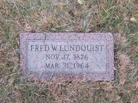 LUNDQUIST, FRED W - Stanton County, Nebraska | FRED W LUNDQUIST - Nebraska Gravestone Photos
