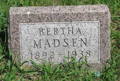 MADSEN, BERTHA - Stanton County, Nebraska | BERTHA MADSEN - Nebraska Gravestone Photos