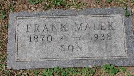 MALEK, FRANK - Stanton County, Nebraska | FRANK MALEK - Nebraska Gravestone Photos