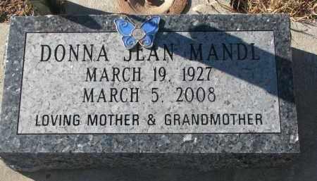 MANDL, DONNA JEAN - Stanton County, Nebraska | DONNA JEAN MANDL - Nebraska Gravestone Photos