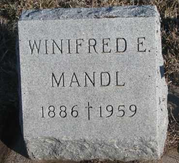 MANDL, WINIFRED E. - Stanton County, Nebraska | WINIFRED E. MANDL - Nebraska Gravestone Photos