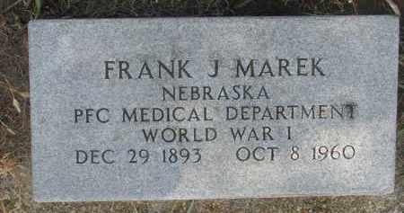 MAREK, FRANK J. (WW I) - Stanton County, Nebraska | FRANK J. (WW I) MAREK - Nebraska Gravestone Photos