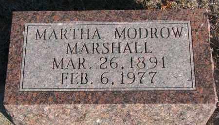 MARSHALL, MARTHA - Stanton County, Nebraska   MARTHA MARSHALL - Nebraska Gravestone Photos