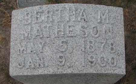 MATHESON, BERTHA M. - Stanton County, Nebraska   BERTHA M. MATHESON - Nebraska Gravestone Photos