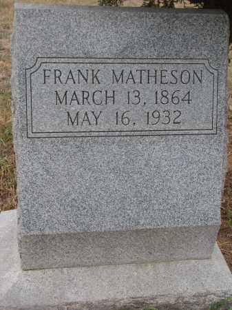 MATHESON, FRANK - Stanton County, Nebraska   FRANK MATHESON - Nebraska Gravestone Photos