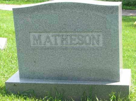 MATHESON, FAMILY STONE - Stanton County, Nebraska | FAMILY STONE MATHESON - Nebraska Gravestone Photos