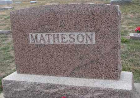 MATHESON, PLOT STONE - Stanton County, Nebraska | PLOT STONE MATHESON - Nebraska Gravestone Photos