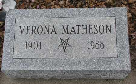 MATHESON, VERONA - Stanton County, Nebraska | VERONA MATHESON - Nebraska Gravestone Photos