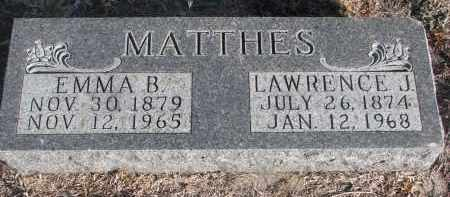 MATTHES, LAWRENCE J. - Stanton County, Nebraska | LAWRENCE J. MATTHES - Nebraska Gravestone Photos