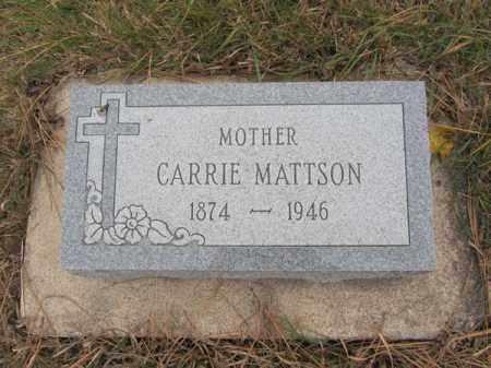 MATTSON, CARRIE - Stanton County, Nebraska | CARRIE MATTSON - Nebraska Gravestone Photos