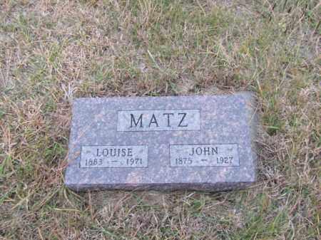 MATZ, JOHN - Stanton County, Nebraska | JOHN MATZ - Nebraska Gravestone Photos