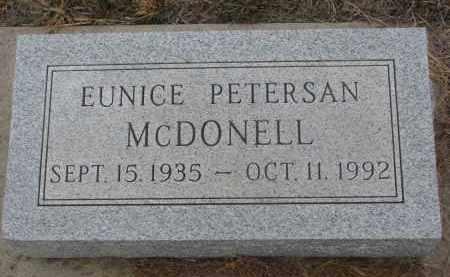 PETERSAN MCDONELL, EUNICE - Stanton County, Nebraska   EUNICE PETERSAN MCDONELL - Nebraska Gravestone Photos