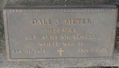 MEYER, DALE J. (WW II) - Stanton County, Nebraska   DALE J. (WW II) MEYER - Nebraska Gravestone Photos