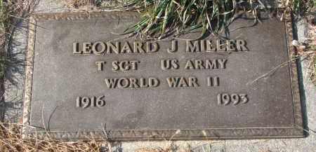 MILLER, LEONARD J. - Stanton County, Nebraska | LEONARD J. MILLER - Nebraska Gravestone Photos