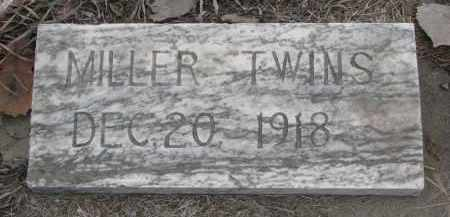 MILLER, TWINS - Stanton County, Nebraska   TWINS MILLER - Nebraska Gravestone Photos