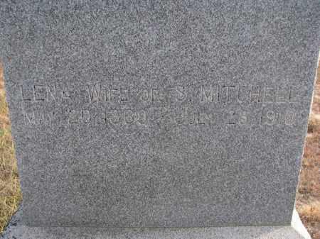 MITCHELL, LENA (CLOSEUP) - Stanton County, Nebraska   LENA (CLOSEUP) MITCHELL - Nebraska Gravestone Photos