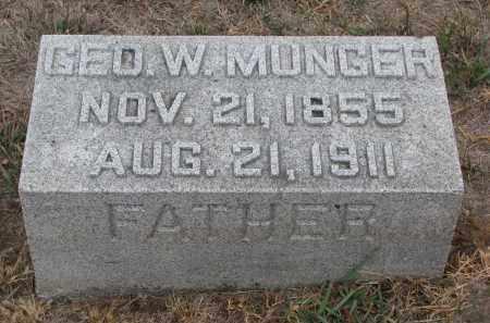 MUNGER, GEORGE W. - Stanton County, Nebraska | GEORGE W. MUNGER - Nebraska Gravestone Photos