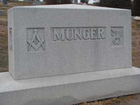 MUNGER, PLOT STONE - Stanton County, Nebraska | PLOT STONE MUNGER - Nebraska Gravestone Photos