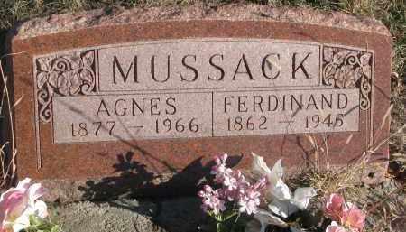 MUSSACK, AGNES - Stanton County, Nebraska   AGNES MUSSACK - Nebraska Gravestone Photos