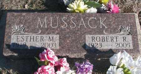 MUSSACK, ESTHER M. - Stanton County, Nebraska | ESTHER M. MUSSACK - Nebraska Gravestone Photos