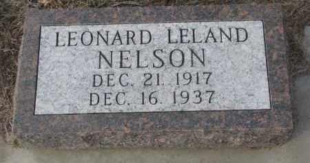 NELSON, LEONARD LELAND - Stanton County, Nebraska | LEONARD LELAND NELSON - Nebraska Gravestone Photos
