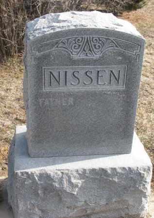 NISSEN, FATHER - Stanton County, Nebraska   FATHER NISSEN - Nebraska Gravestone Photos