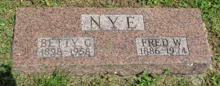 NYE, FRED W. - Stanton County, Nebraska | FRED W. NYE - Nebraska Gravestone Photos