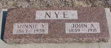 NYE, MINNIE Y. - Stanton County, Nebraska | MINNIE Y. NYE - Nebraska Gravestone Photos