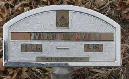NYE, VIDA L. - Stanton County, Nebraska | VIDA L. NYE - Nebraska Gravestone Photos