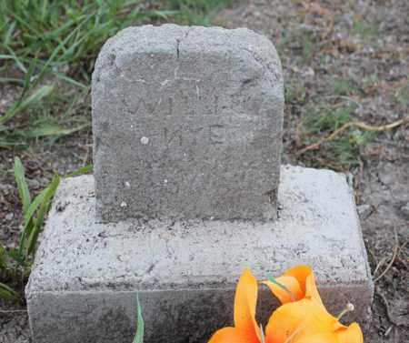 NYE, WILLIE - Stanton County, Nebraska   WILLIE NYE - Nebraska Gravestone Photos