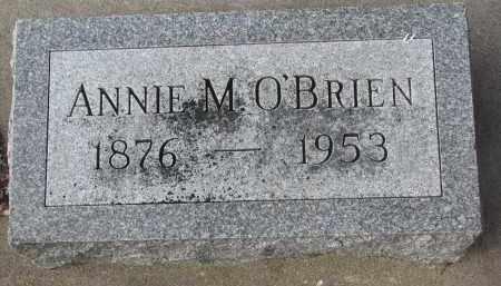 O'BRIEN, ANNIE M. - Stanton County, Nebraska | ANNIE M. O'BRIEN - Nebraska Gravestone Photos