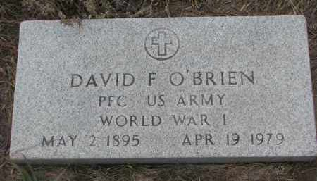 O'BRIEN, DAVID F. (WW I) - Stanton County, Nebraska | DAVID F. (WW I) O'BRIEN - Nebraska Gravestone Photos