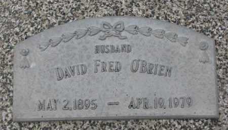 O'BRIEN, DAVID FRED - Stanton County, Nebraska | DAVID FRED O'BRIEN - Nebraska Gravestone Photos