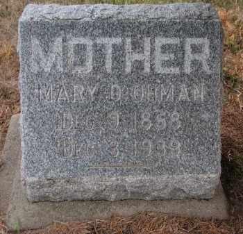 OHMAN, MARY D. - Stanton County, Nebraska | MARY D. OHMAN - Nebraska Gravestone Photos