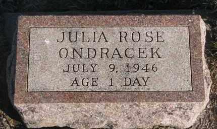 ONDRACEK, JULIA ROSE - Stanton County, Nebraska   JULIA ROSE ONDRACEK - Nebraska Gravestone Photos