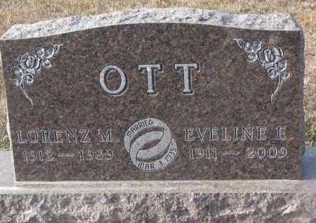 OTT, EVELINE E. - Stanton County, Nebraska | EVELINE E. OTT - Nebraska Gravestone Photos