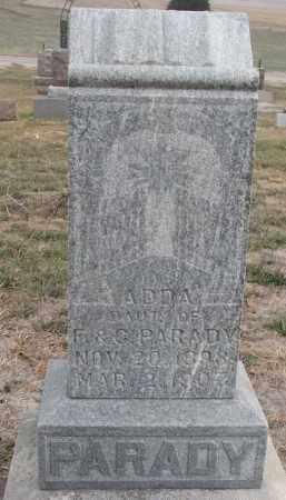 PARADY, ADDA - Stanton County, Nebraska | ADDA PARADY - Nebraska Gravestone Photos