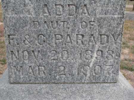 PARADY, ADDA (CLOSEUP) - Stanton County, Nebraska | ADDA (CLOSEUP) PARADY - Nebraska Gravestone Photos