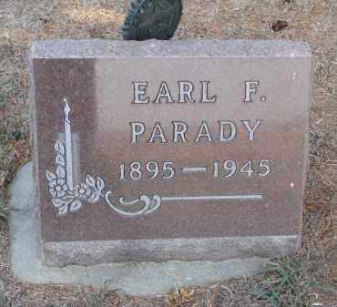 PARADY, EARL F. - Stanton County, Nebraska | EARL F. PARADY - Nebraska Gravestone Photos