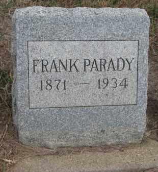 PARADY, FRANK - Stanton County, Nebraska | FRANK PARADY - Nebraska Gravestone Photos