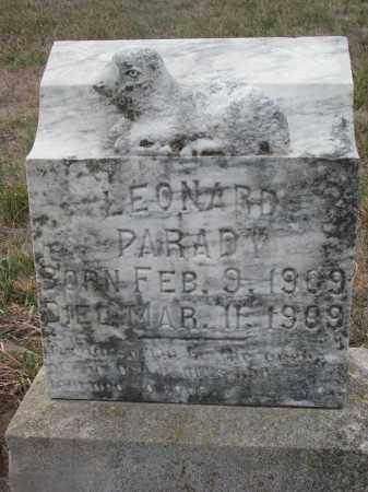 PARADY, LEONARD - Stanton County, Nebraska | LEONARD PARADY - Nebraska Gravestone Photos