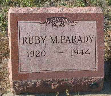 PARADY, RUBY M. - Stanton County, Nebraska   RUBY M. PARADY - Nebraska Gravestone Photos