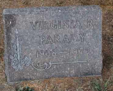 PARADY, VIRGINIA R. - Stanton County, Nebraska | VIRGINIA R. PARADY - Nebraska Gravestone Photos