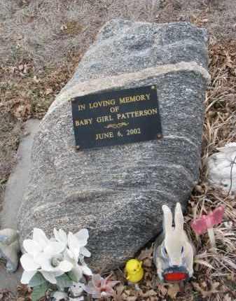 PATTERSON, BABY GIRL - Stanton County, Nebraska | BABY GIRL PATTERSON - Nebraska Gravestone Photos