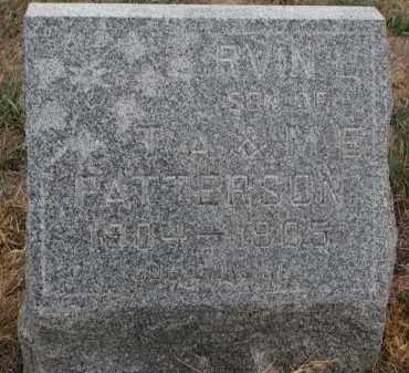 PATTERSON, IRVIN - Stanton County, Nebraska   IRVIN PATTERSON - Nebraska Gravestone Photos