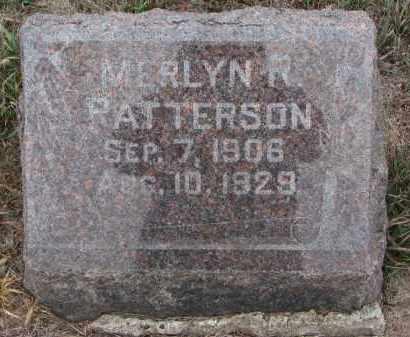 PATTERSON, MERLYN R. - Stanton County, Nebraska   MERLYN R. PATTERSON - Nebraska Gravestone Photos
